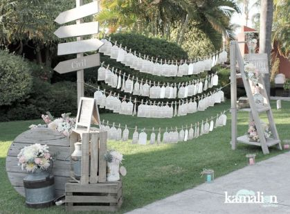 www.kamalion.com.mx - Decoración / Vintage / Rustic / Mint & Pink / Menta & Rosa / Placing Cards / Decor / Letreros.