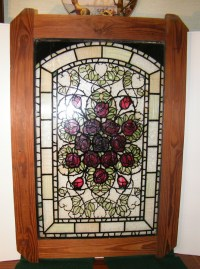 Antique Vintage Stained Glass Window Door Panel Unusual ...