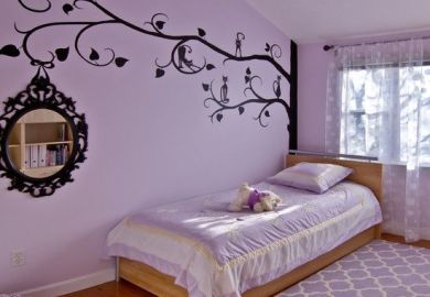 Purple Bedroom Decoration Ideas Bedroom A
