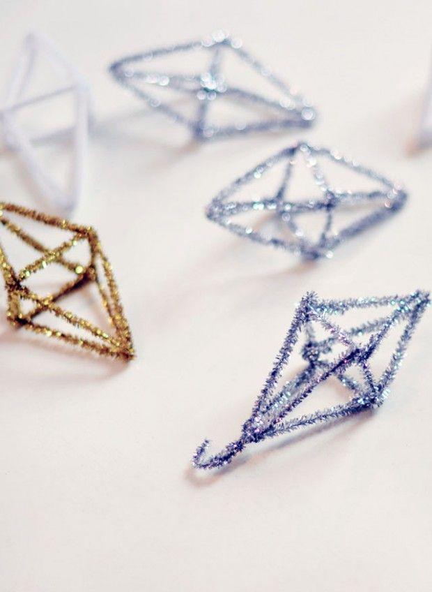 DIY: geo christmas ornaments