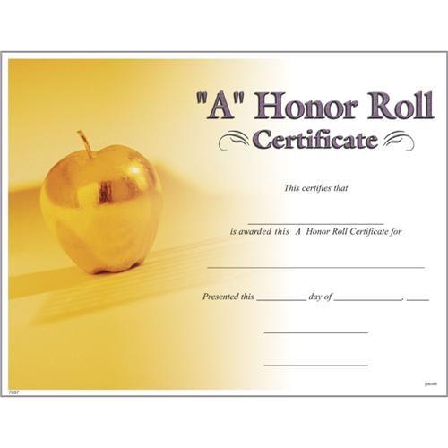 printable honor roll certificate