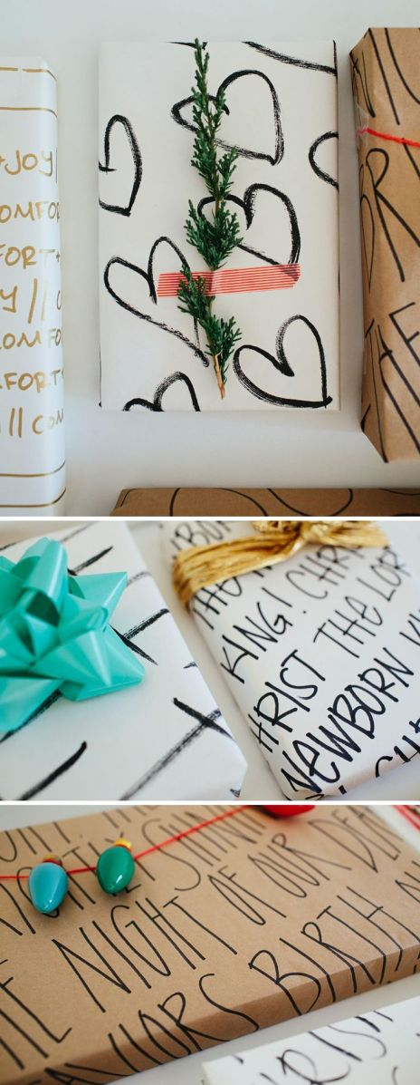Looking forward to a year's worth of amazing gift wrap. Vow to start making and sharing your own creations.