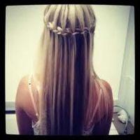 waterfall braid - straight hair | Wedding! | Pinterest