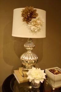 Burlap Lamp Shade Magnetic Flower Accessory- Lamp Shade Cover