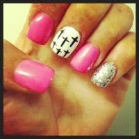 Cross nail design | My nails | Pinterest