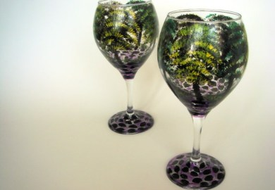Hand Painted Wine Glasses And More Gift Ideas On Etsy