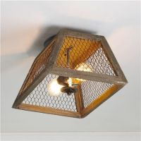 Thrifted Chicken Wire Light Fixture - Bless'er House