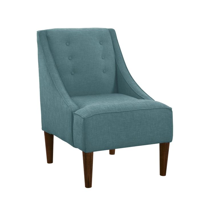 Descent Tufted Arm Chair in Teal
