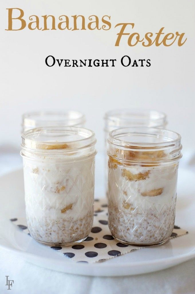 Do you know what's better than oatmeal packets? This easy bananas foster overnight oats recipe! Full of flavor and alcohol free.