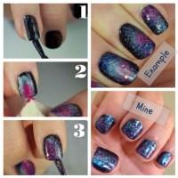 DIY galaxy nails tutorial | Nails! | Pinterest