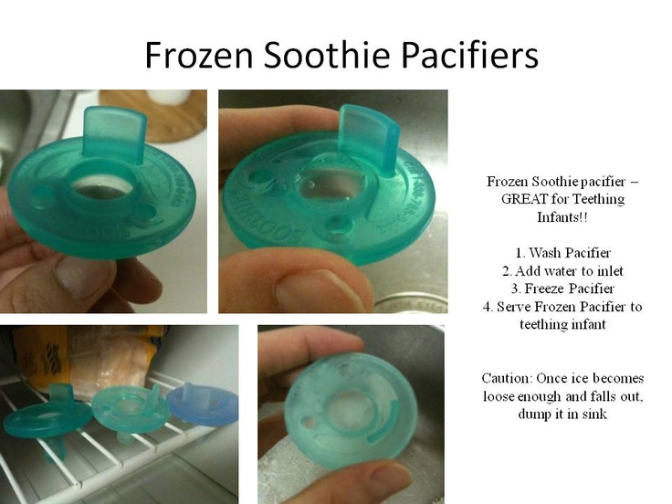 Frozen Soothie Pacifiers for Teething infants :)