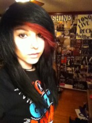 red and black scene hair dream