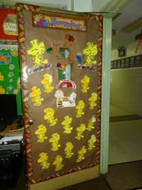 door charlie brown theme | Classroom Door | Pinterest