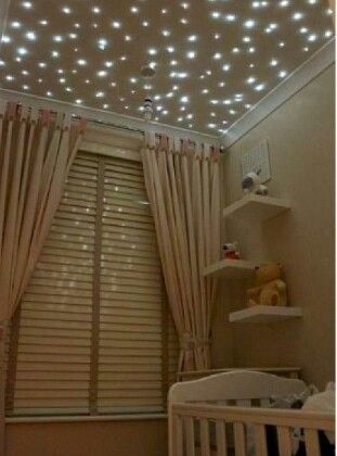 Fiber optic lights on ceiling for nursery