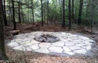 Natural fire pit | Backyard Ponds and ideas | Pinterest