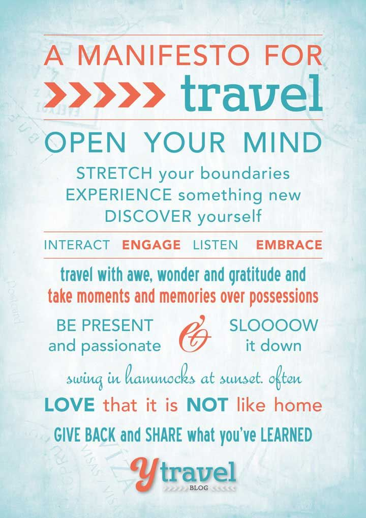 10 Principles to Make Your Travels Memorable – Our Travel Manifesto