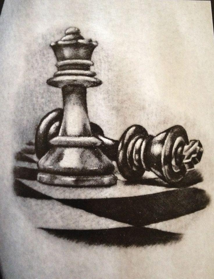 Unique Queen Chess Piece Tattoo Designs