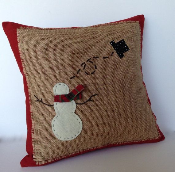 Snowman Christmas Pillow cover holiday pillow decorative