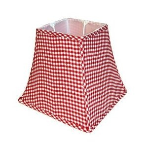 Red gingham lamp shades