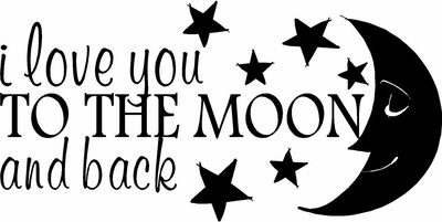 Download I Love You To The Moon And Back Wall Decals...saying that ...