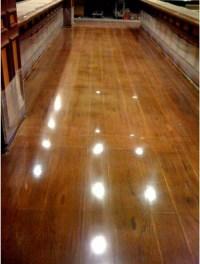 Faux wood / polished concrete floor | Floors | Pinterest