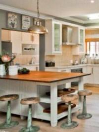 country kitchen island | Kitchens I Like | Pinterest