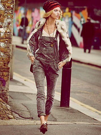 Free People Washed Corduroy Overall