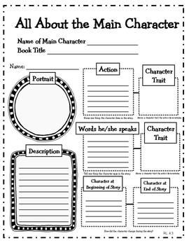 Character Analysis: 4th Grade Reading Literature Graphic
