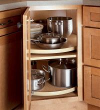 Corner Cabinet Storage | Kitchen Cabinets | Pinterest