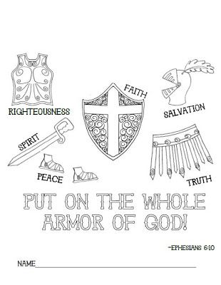 Full Armor Of God Coloring Sheet Sketch Coloring Page
