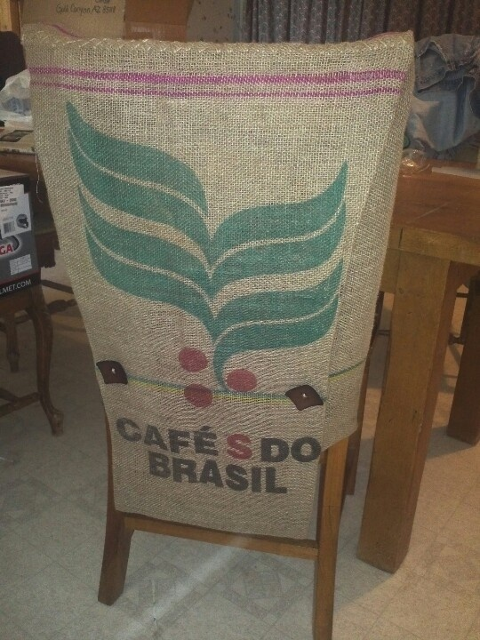 Burlap chair cover from coffee sack  the nonboring home