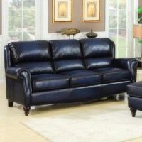 Leather and Bonded Leather Sofas: Blue Leather Furniture