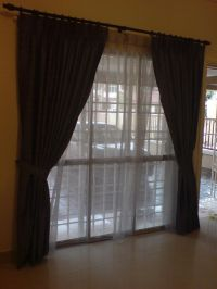 Sliding Door Curtain Ideas pictures | For the Home | Pinterest