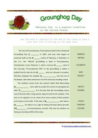 Groundhog Day Worksheet