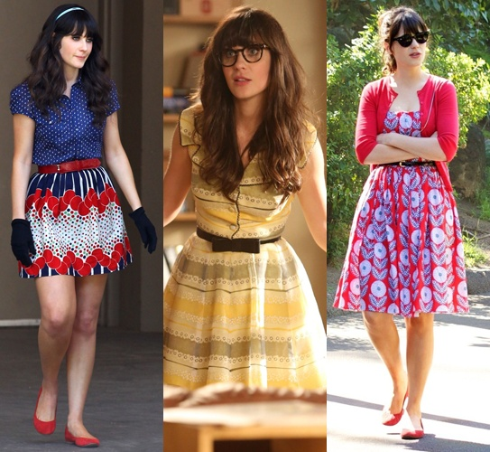 Vitrola na Vitrine - New Girl - Jessica Day - Zooey Deschanel - Fashion - Looks