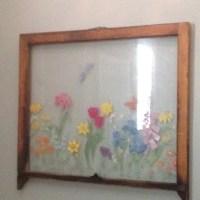 Antique window frame painted. | Craft Ideas | Pinterest