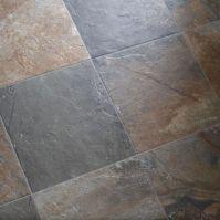 ceramic slate-look tile basement | For the Organized ...