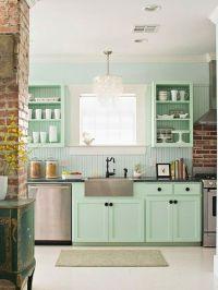 Sea Foam Green Kitchen   Home Decor: Kitchen   Pinterest