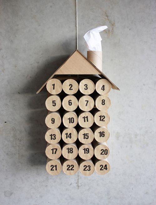 diy: toilet paper roll advent calendar