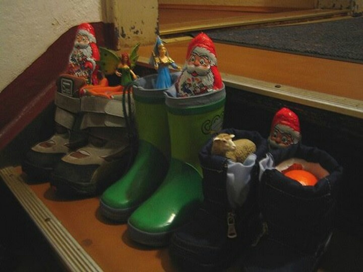 St Nikolaus day!  In Germany and other European countries, the tradition of putting out their shoes for St. Nick to fill.  It is just like what we do here with stockings hung on the mantle.