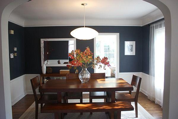 Navy blue dining room  Dining Room Ideas  Pinterest