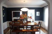 Navy blue dining room | Dining Room Ideas | Pinterest