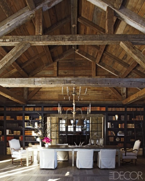 barn style dining room  home style  Pinterest