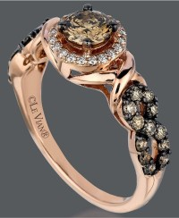 Rose Gold Ring: Rose Gold Ring With Chocolate Diamond