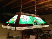 Stained Glass Pool Table light fixture | Stained Glass ...