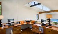 Long Corner Wood Double Desk | Home | Pinterest