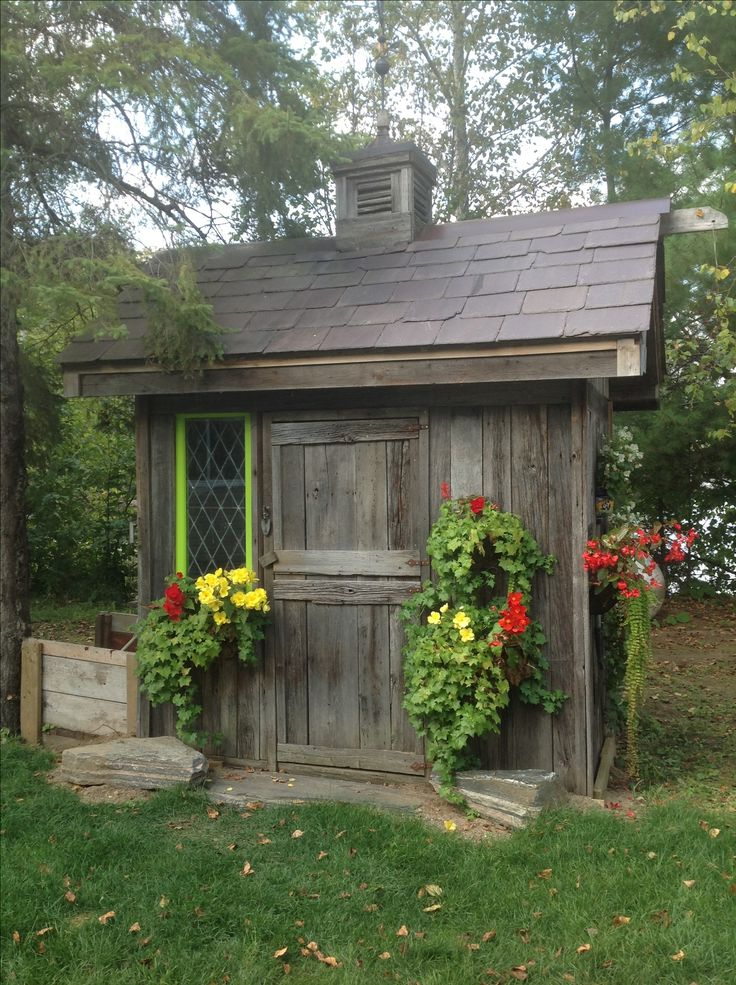 Small rustic garden shed  For the Home  Pinterest