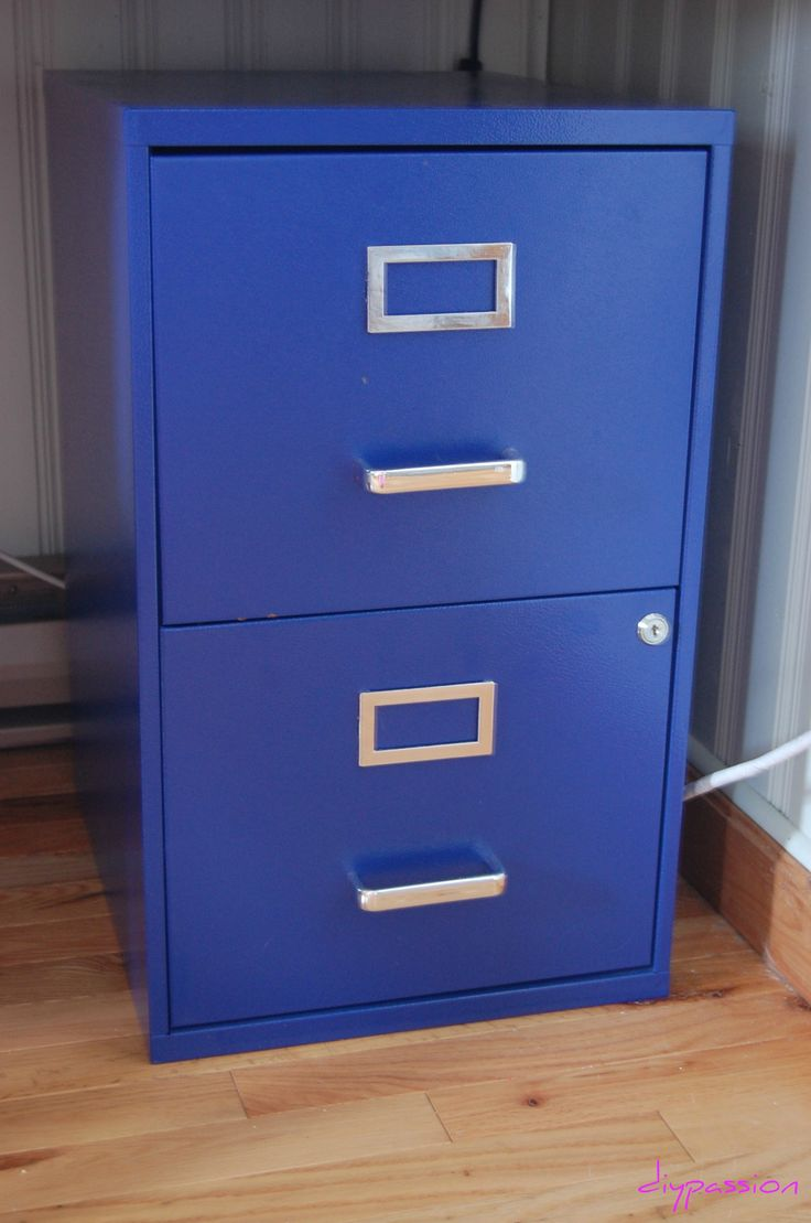 Spray painted filing cabinet