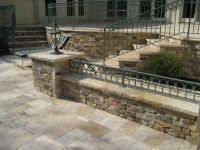 Stacked stone walls patio | the great outdoors | Pinterest