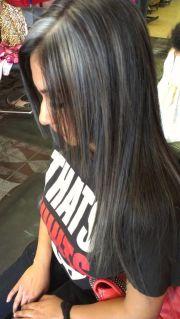 silver highlights hair